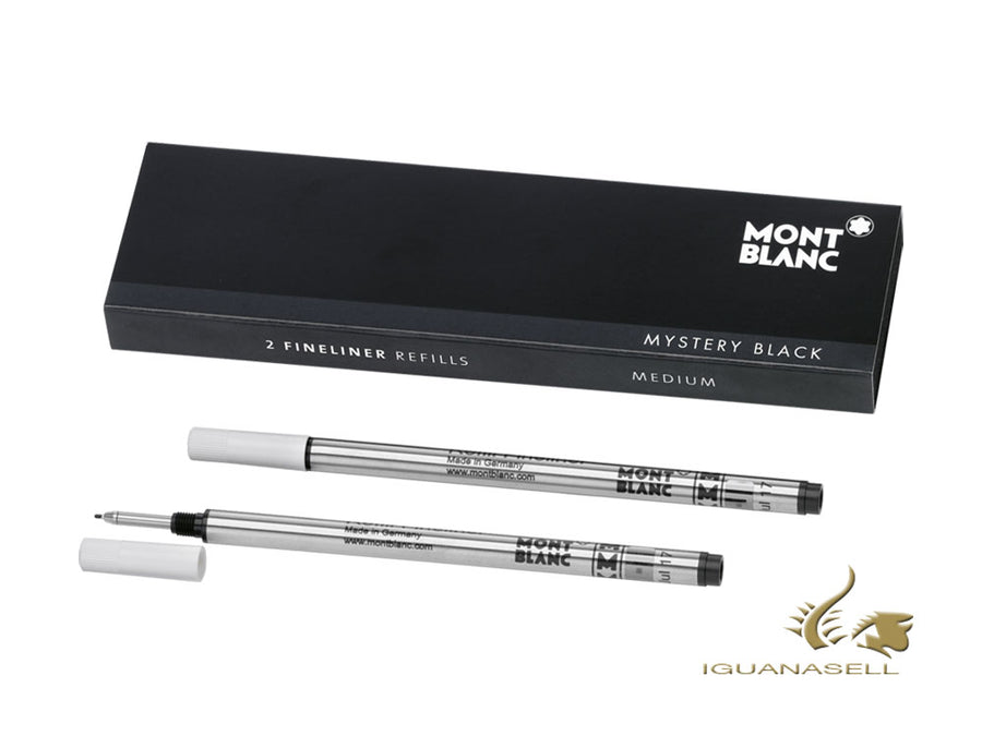 Recharge Fineliner Montblanc Mystery Black, Noir, Moyenne, 110149