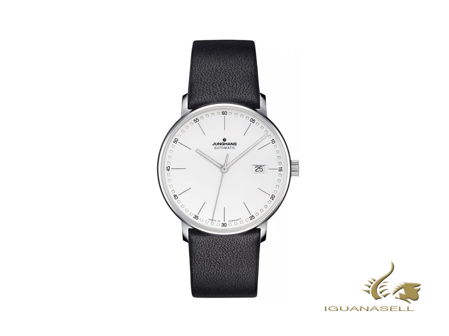 Montre Automatique Junghans Form A, J800.2, 39,3mm, Blanc/Noir, 027/4730.00