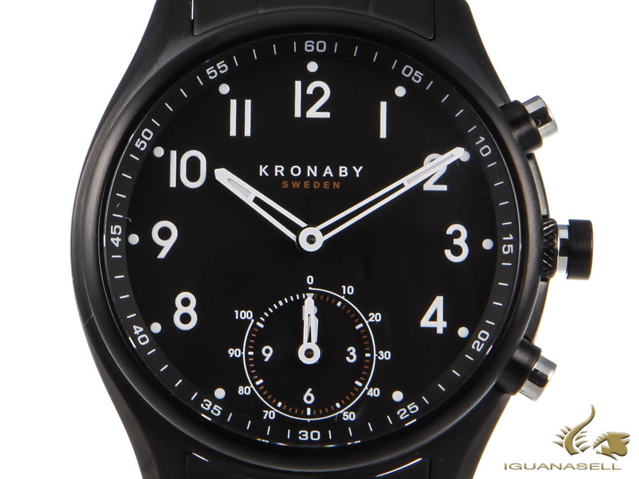 Montre à Quartz Kronaby Apex, Noir, 43mm, 10 atm, A1000-0731