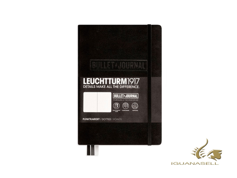 Bullet Journal Leuchtturm1917, Medium (A5), Pointillés, Noir, 240 pages, 346703