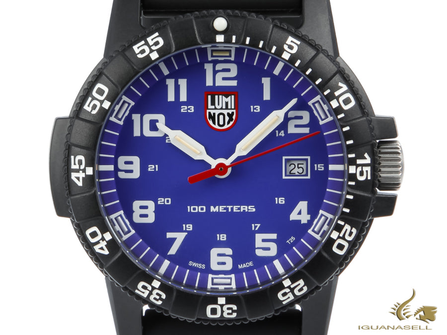 Montre à Quartz Luminox Leatherback Sea Turtle Giant 0323, Bleu, Carbone, 44mm