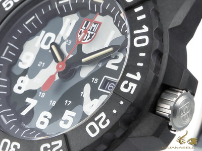 Montre à Quartz Luminox Sea Navy Seal, Gris, Carbone, 45mm, 20 atm, XS.3507.PH