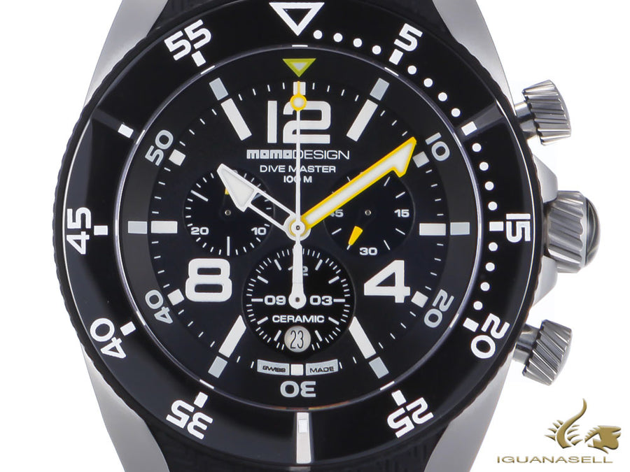 Montre à Quartz Momo Design Dive Master Sport, Chronographe, 46mm, MD1281SB-11