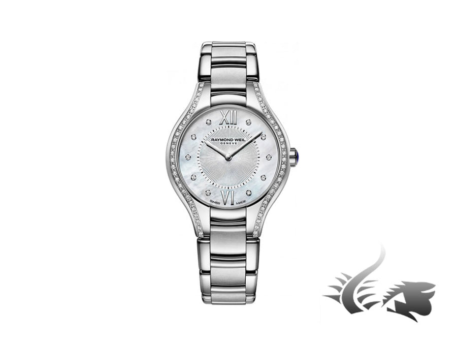 Montre à quartz Raymond Weil Noemia Ladies, 62 Diamants, Nacre, 5124-STS-00985