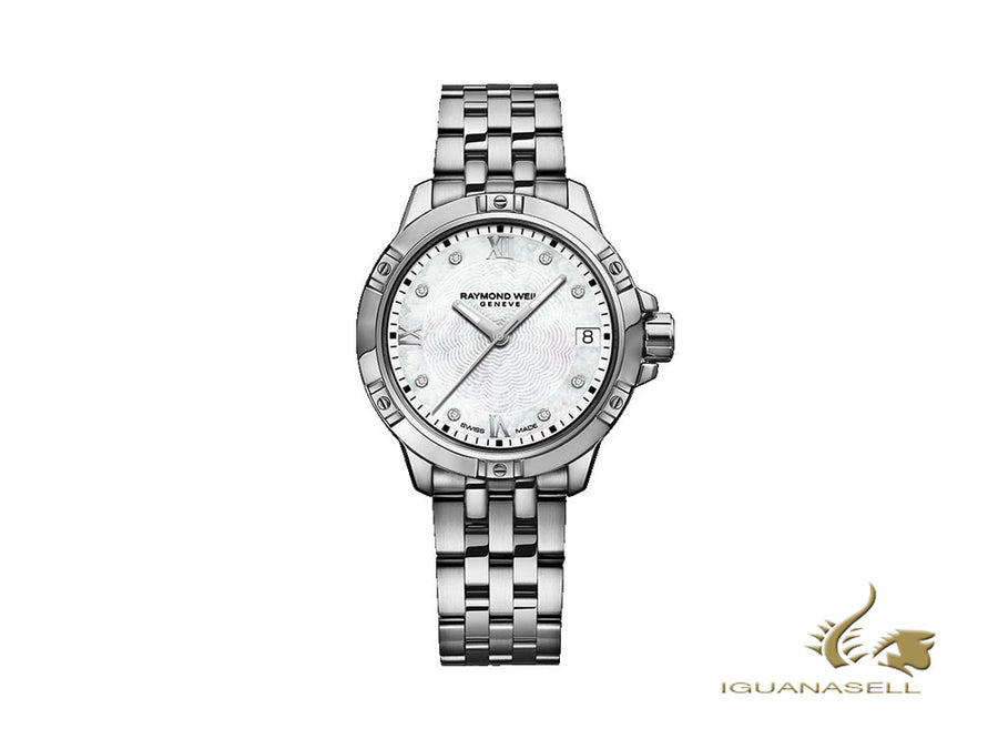 Montre à Quartz Raymond Weil Tango Ladies, 8 Diamants, Nacre, 30mm, Jour
