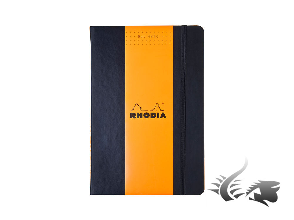 Carnet Rhodia Ice, A5, Couverture rigide, Pointillés, Noir, 192 pages, 118769C
