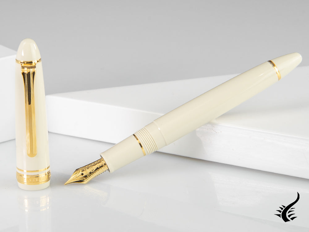 Stylo Plume Sailor 1911 Standard Series, Résine, Ivory, Or, 11-1219-417
