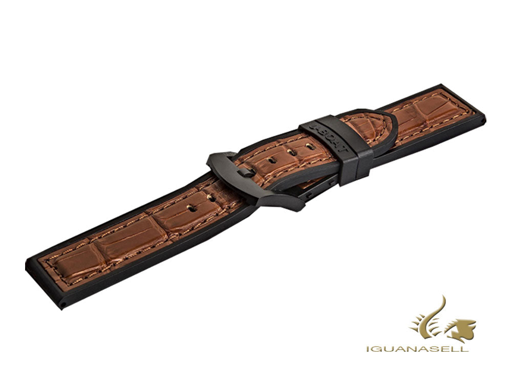 Bracelet U-Boat Accesorios, Caoutchouc, Alligator, Marron, 26 mm., 1926