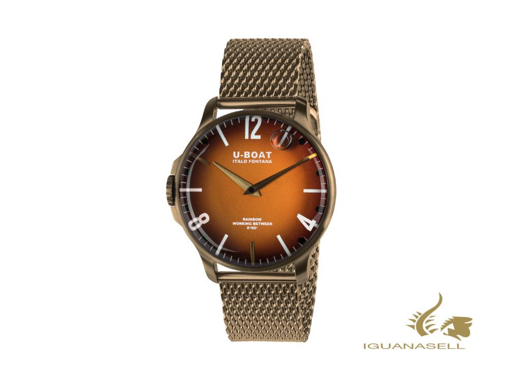 Montre à Quartz U-Boat Capsoil Rainbow 44 Orange IP Bronze, 44 mm, 8468/MT