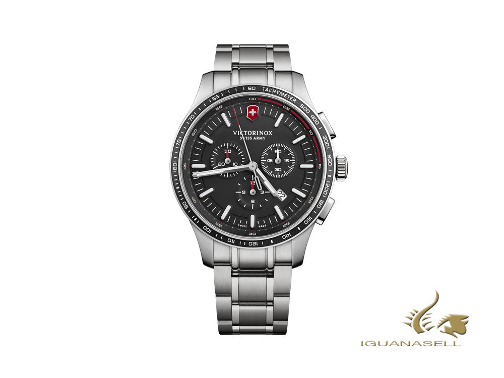 Montre à Quartz Victorinox Alliance Sport Chronograph, Noir, 44 mm, V241816