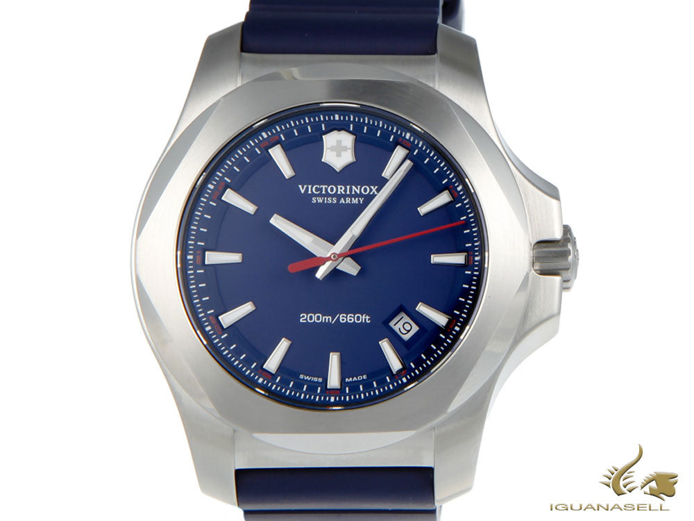 Montre à Quartz Victorinox I.N.O.X., Bleu, 43 mm, Superluminova, V241688.1