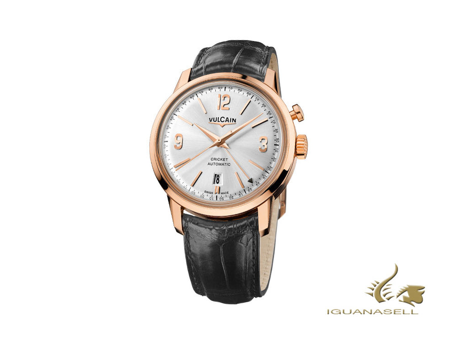 Montre Automatique Vulcain 50s Presidents Tradition,  V-21, Or Rose, 210550.279L