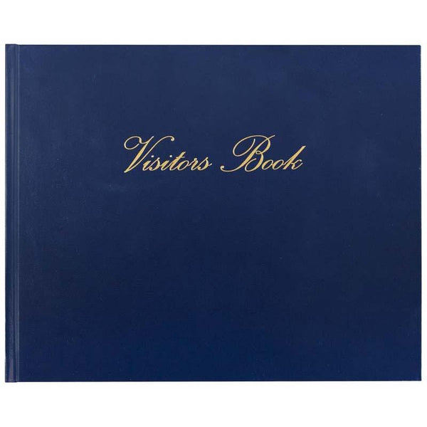 Collins Visitors Book VB625 Navy 232x188mm 64 Leaf - Office Connect