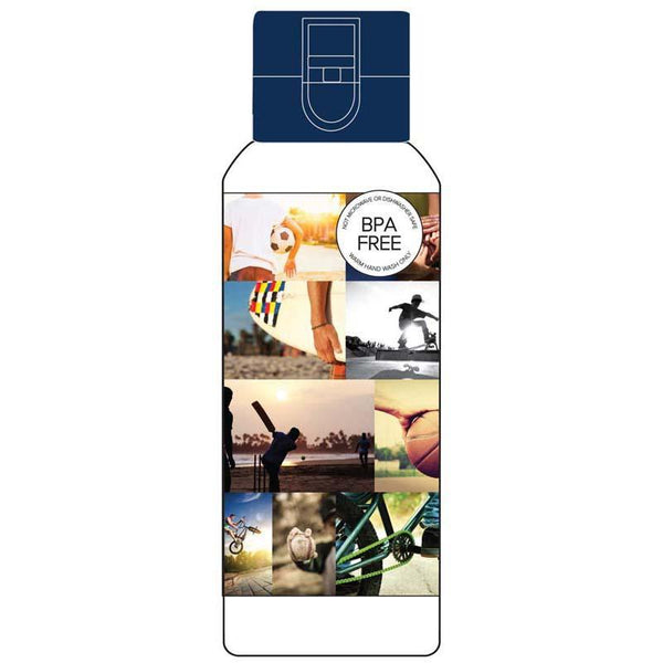 Spencil Sports Collage Water Bottle - Office Connect
