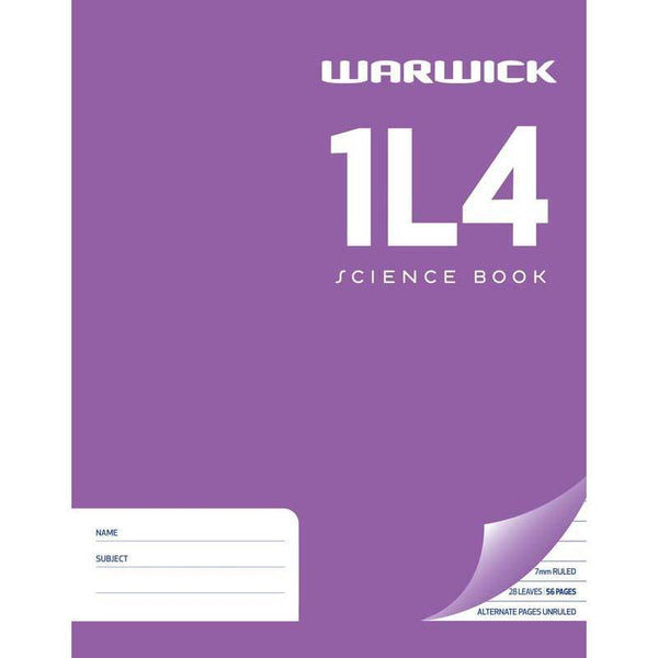 Warwick Exercise Book 1L4 28 Leaf Ruled 7mm Unruled 230x180mm - Office Connect
