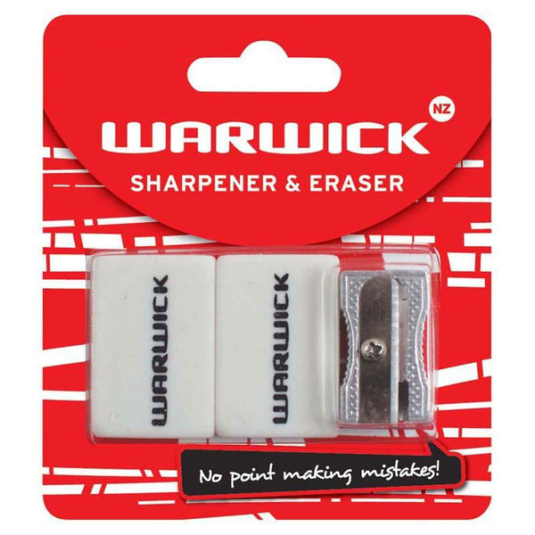 Warwick Sharpener & Eraser Hangsell - Office Connect
