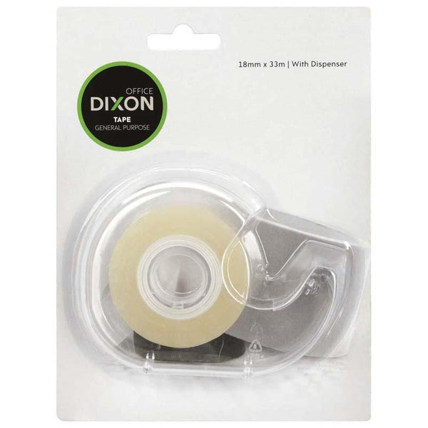 Dixon Tape General Purpose 18mmx33m + Dispenser - Office Connect