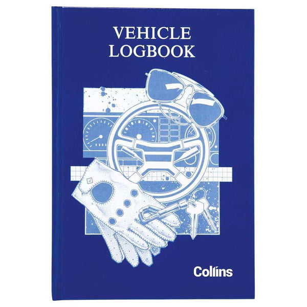 Collins Vehicle Log Book Hard Cover 44 Leaf 215x150mm - Office Connect