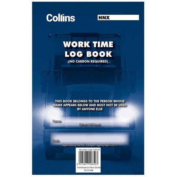 Collins Log Book Work Time A5 Triplicate - Office Connect