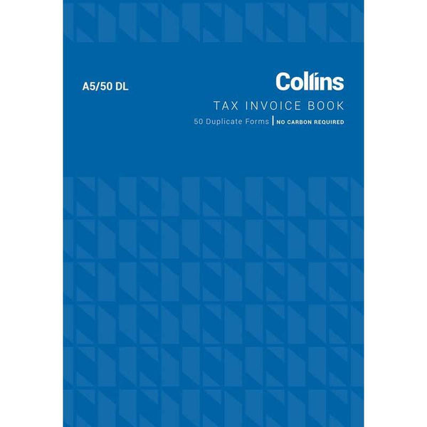 Collins Tax Invoice A5/50DL No Carbon Required - Office Connect
