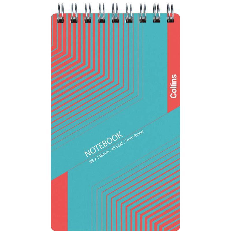 Collins Notebook Wiro Small Polyprop Top Opening 88x148mm 48 Leaf - Office Connect
