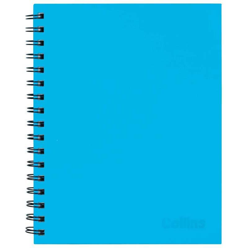 Collins Notebook Wiro 225x175 Ice Blue 100 Leaf Side Opening - Office Connect