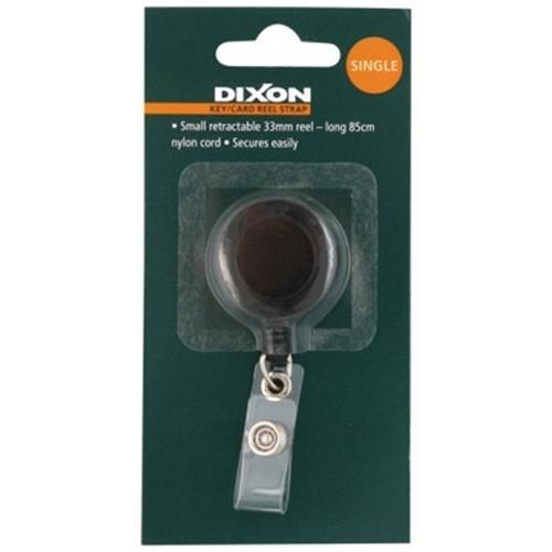 Dixon Key Card Reel Strap Small Single Black - Office Connect