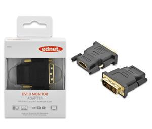 Ednet DVI-D (M) to HDMI Type A (F) Adapter - Office Connect