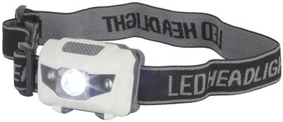 3W LED Head Torch with 2 Red LEDs - Office Connect