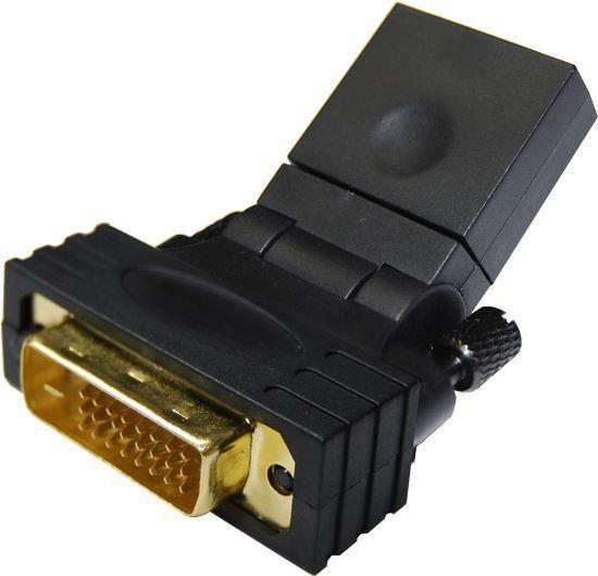 DYNAMIX HDMI Female to DVI-D (24+1) Male Swivel Adapter - Office Connect