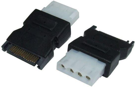 DYNAMIX Power Adapter SATA 15P Male to Standard IDE - Office Connect