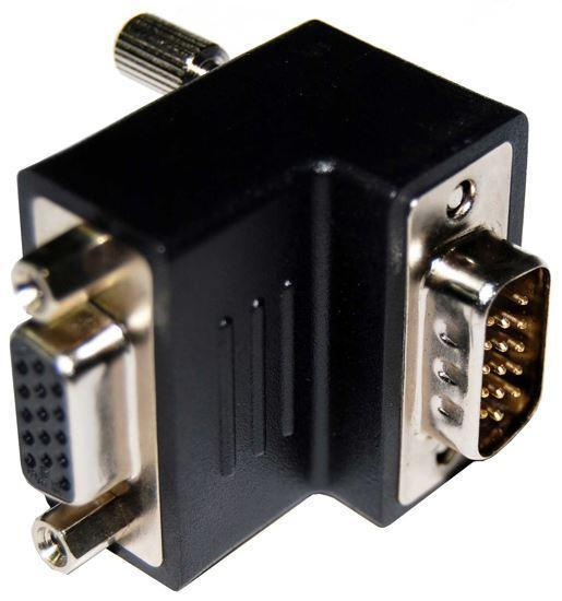 DYNAMIX VGA Right Angled Adapter HDB15 Male to Female - Office Connect