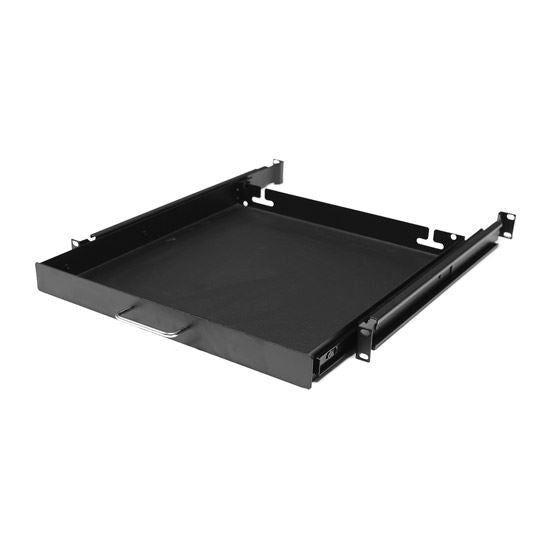 DYNAMIX AV Rack 1RU sliding drawer with #10-32 screws. - Office Connect