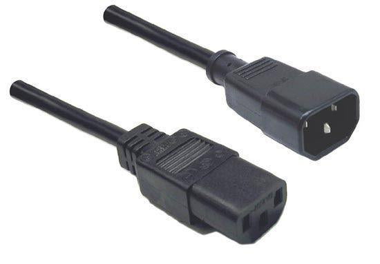 DYNAMIX 0.2M IEC Male to Female 10A SAA Approved Power - Office Connect