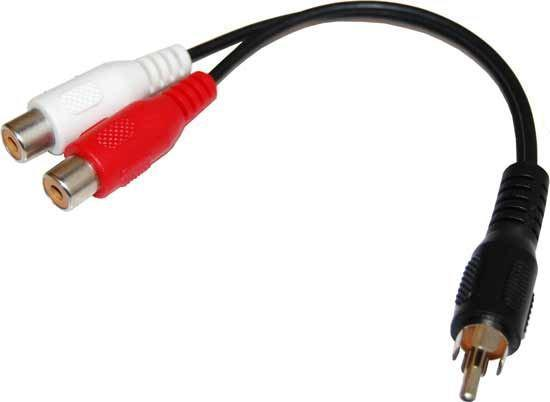 DYNAMIX 0.15m Dual RCA Female to RCA Male Cable - Office Connect