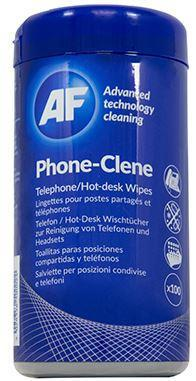 AF Phone-Clene Anti-Bacterial Phone Wipes Tub - Office Connect