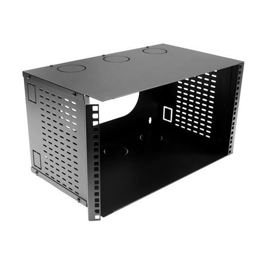 DYNAMIX 6U 300mm Deep 19'' Fully Enclosed Hinged Wall - Office Connect