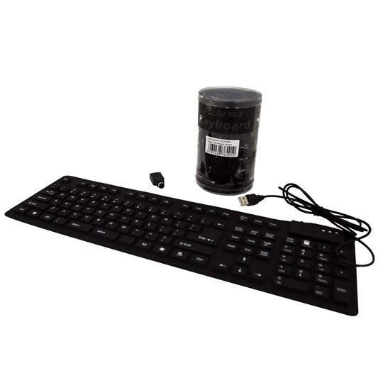 DYNAMIX Flexible USB Keyboard 108 keys. Black Colour - Office Connect