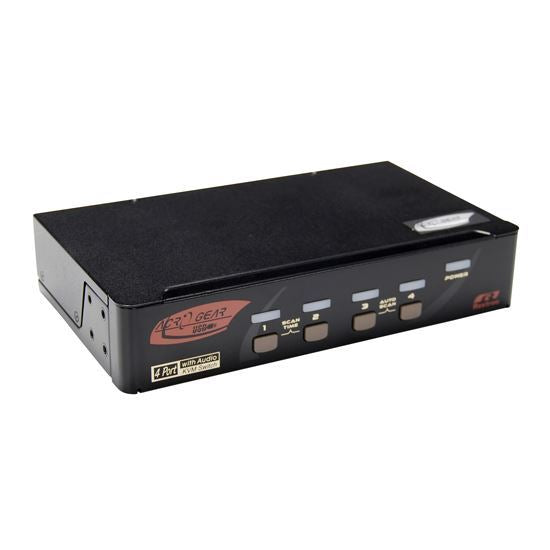 REXTRON 4 Port HDMI USB KVM Switch with Audio. USB - Office Connect