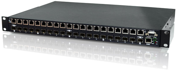 CTC UNION 20 Port SFP Patching HUB. Converts 100/1000Base-FX - Office Connect