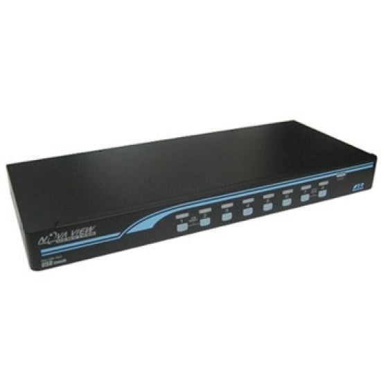 REXTRON 1-8 USB/PS2 Hybrid KVM Switch with USB Console - Office Connect