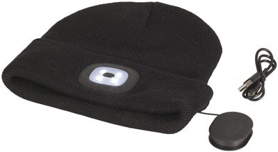 Black Beanie with Bluetooth® Speakers and LED Torch - Office Connect