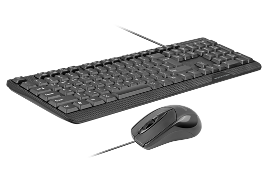PROMATE Ergonomic Wired USB Mouse & Keyboard Combo. - Office Connect