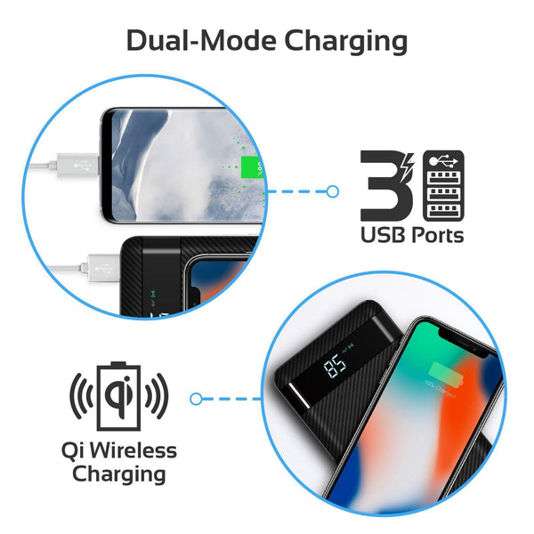 PROMATE 20000mAh Wireless Charging Power bank with - Office Connect