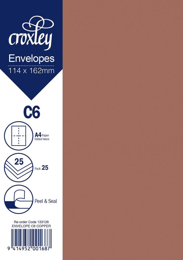Envelope C6 Copper 114x162mm Pack 25 - Office Connect