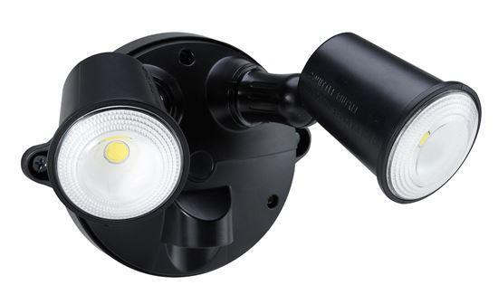 HOUSEWATCH 10W Twin LED Spotlight IP54.2000 Lumens,Stainless - Office Connect