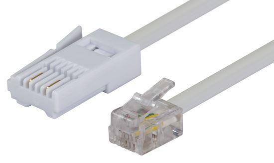 DYNAMIX 2m BT to RJ11 Cable (For Modem to Phone Line - Office Connect