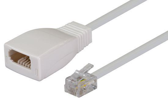 DYNAMIX 0.08m Cable-BT Socket to RJ11 Plug (for Phone - Office Connect