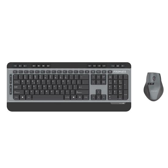 PROMATE Sleek Wireless Multimedia Keyboard & Mouse Combo. - Office Connect