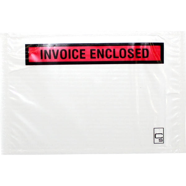 Cumberland Labelopes INVOICE ENCLOSED 155x115mm 100/Pkt - Office Connect